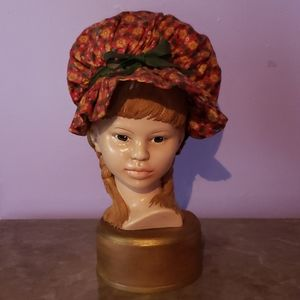 Rare vintage 1950 s Girl Claybust